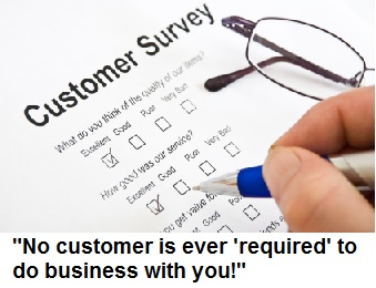 Customer survey artwork