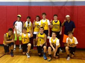 CYO basketball team picture