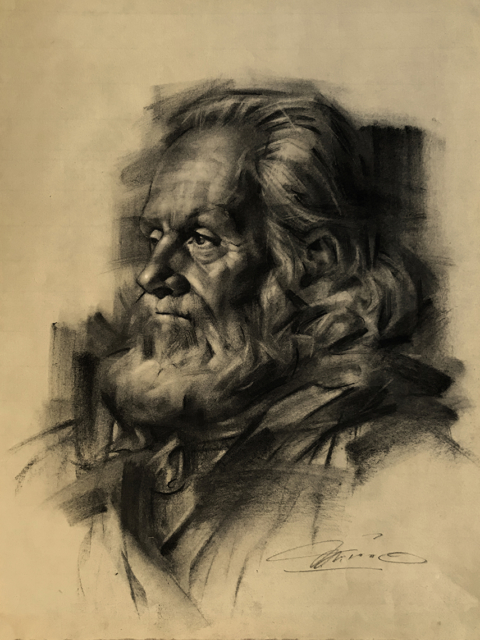 Charles Miano artwork CaptainRick artwork Charcoal on paper