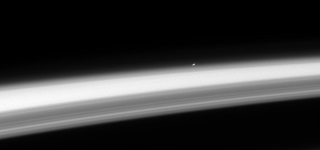 CASSINI VIEW OF ALPHA CENTAURI OVER THE RINGS OF SATURN