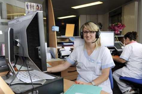 Lorient. Morbihan. Clinique mutualiste. Blandine JUCHNIEWICZ, secrétaire médicale.