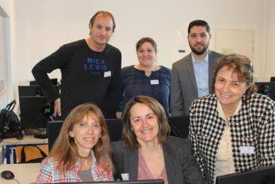 L'équipe de professeurs de Bac Professionnel Gestion Administration avec E. YACALIS, MC LAFAGE, O. TRUCHET, MP. DREY