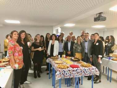 Pause méridienne avec les VIP pour l'Erasmusday