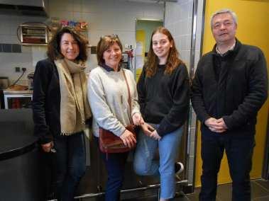 Mme SAMADET, Sara CASSAN jeune stagiaire italienne, M THIEBAUT et Mme LARDEAU