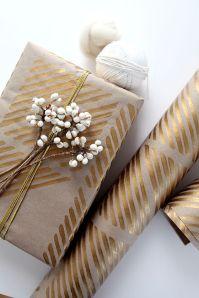 christmas gift craft gold