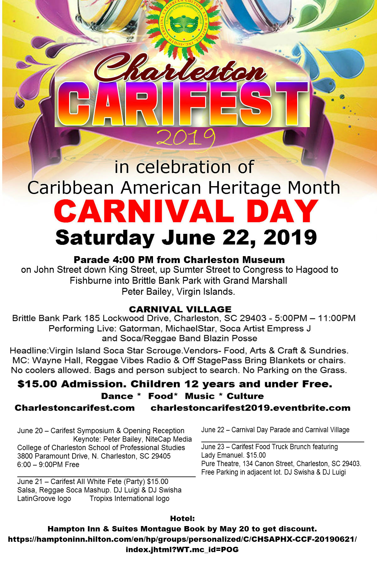 Christmas In July 2019 Virgin Gorda.Festival 2019 Charleston Carifest