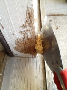how to fix dog damage to wall
