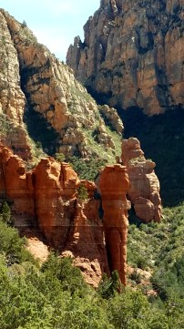The spires around Sedona are always interesting. Took them from the overlook in the next photo.