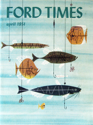 Ford times retrospective of charley harper the charley for Charley s fishing