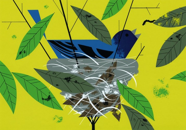 Indigo Bunting | Charley Harper Prints | For Sale