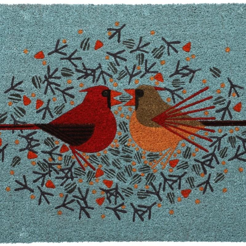 Cardinal Courtship doormat