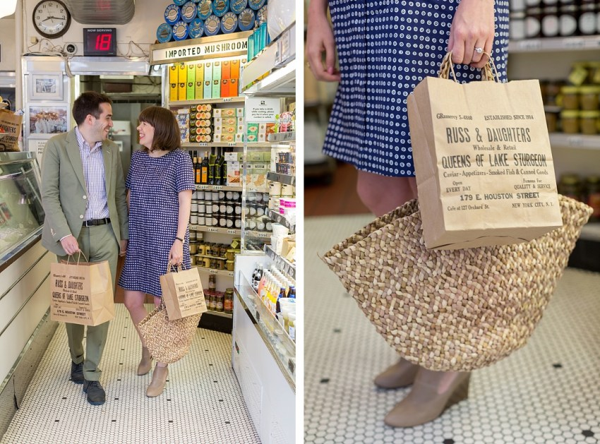 Russ & Daughters Shop, Engagement Photos