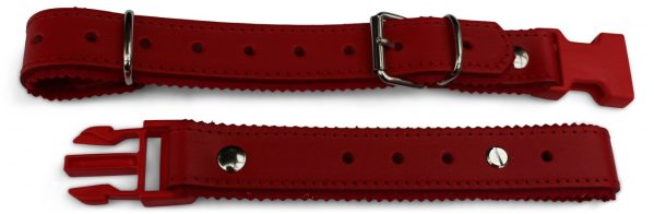 accordion backstrap in red