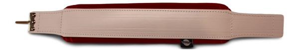 Accordion bass strap white on red