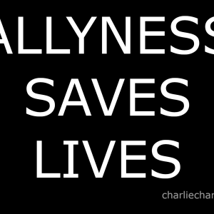 allyness saves lives embroidered velcro patch