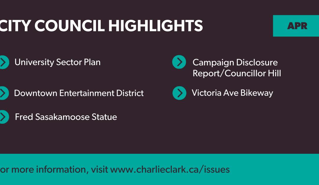 Council Highlights, April 2021