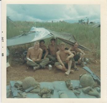 L-R; Lt Ravegun, unk, Dick Snow, Dale Bishop