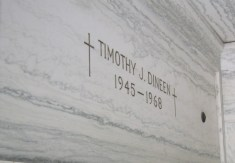 Tim's resting place inside the crypt