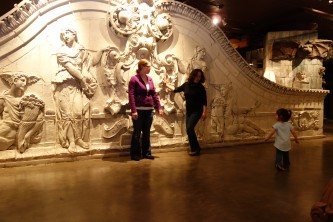 Preserved architectural elements from St. Louis @ City Museum