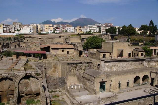 Herculaneum with Pompeii in the background