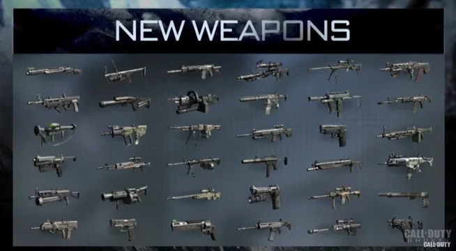 The (known) WEAPONS Of Call Of Duty Ghosts -Weapon List