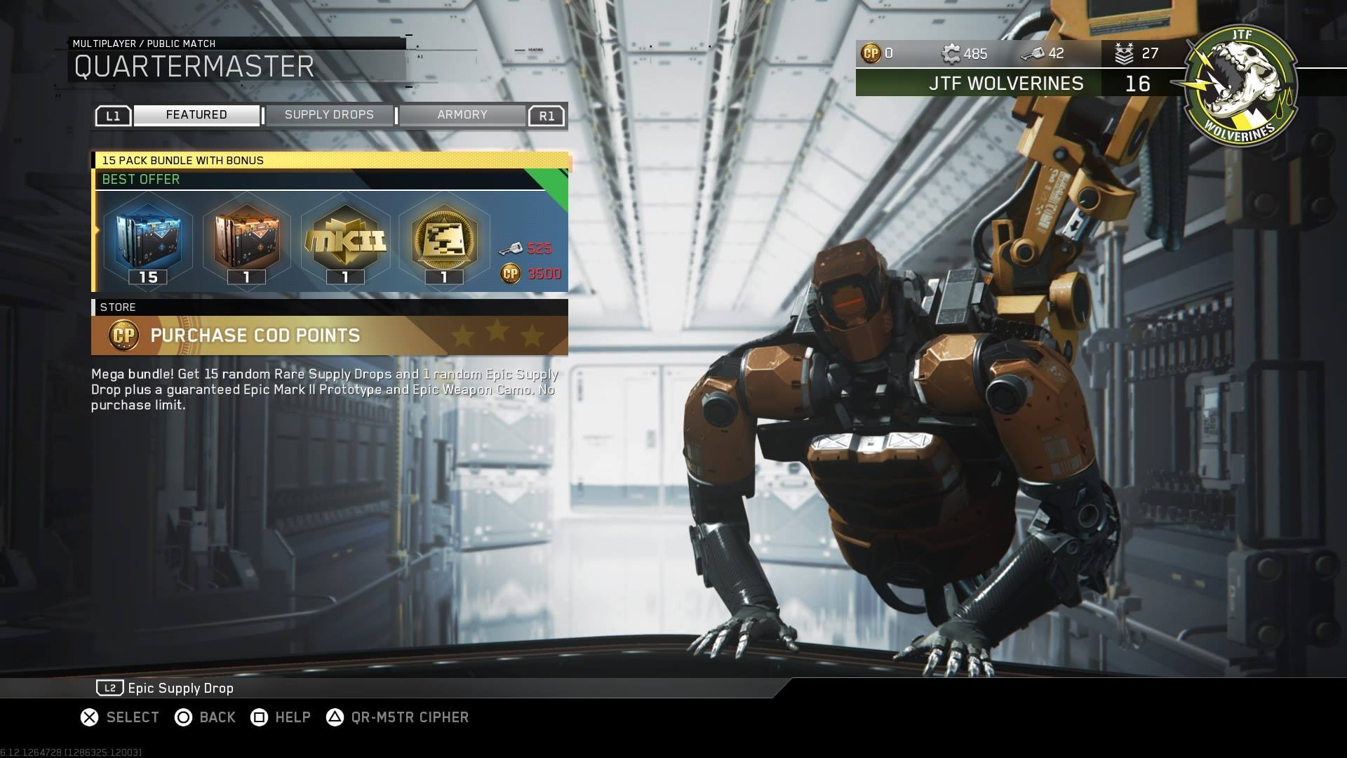 Patch Update 113 For Infinite Warfare Live On PS4XB1PC