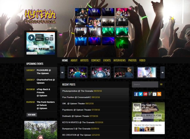 Hytekk Productions Website