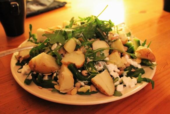Vegetarian in Poland salad