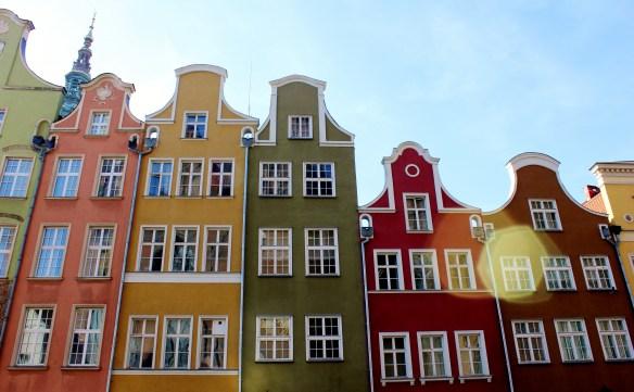 Gdańsk houses backpacking poland