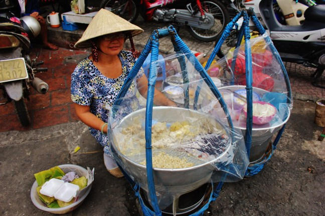 Sticky rice vietnam street seller Vegetarian Street Food in Vietnam