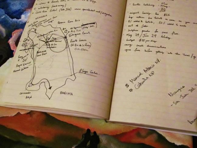 Lukes indefinite travel map of costa rica