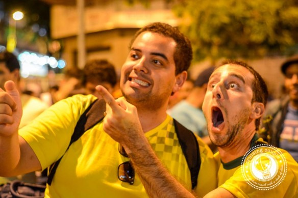 Cheering for Brazil World Cup Couchsurfing