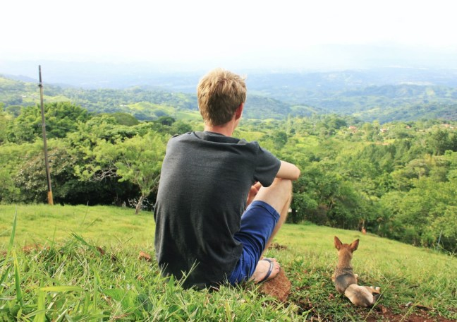 Luke on Travel and Ridgie the dog - house sitting Costa Rica
