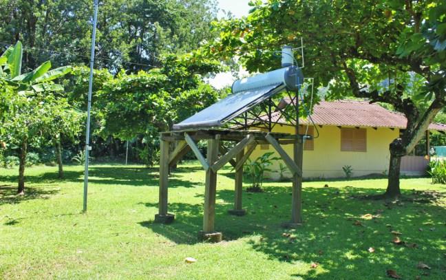 Solar panels at Hacienda Baru eco-lodge