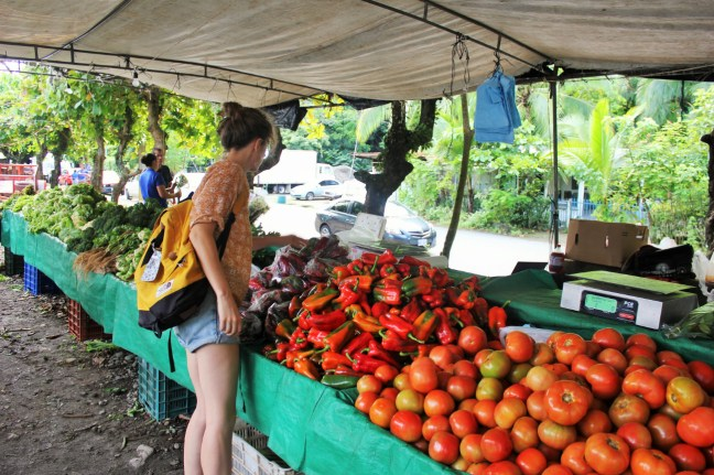 Charlie at Quepos farmers market - Charlie on Travel