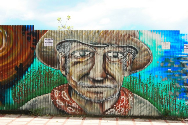 Farmers face street art san jose costa rica - Charlie on Travel