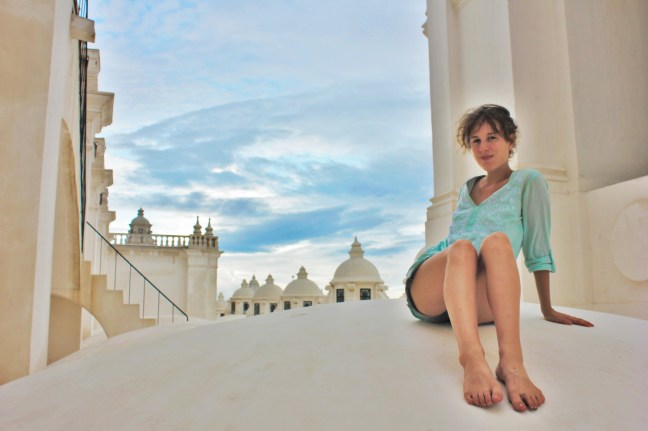 Charlie on the roof of Leon Cathedral Nicaragua - Charlie on Travel 1