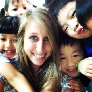 Katie teaching in Taiwan