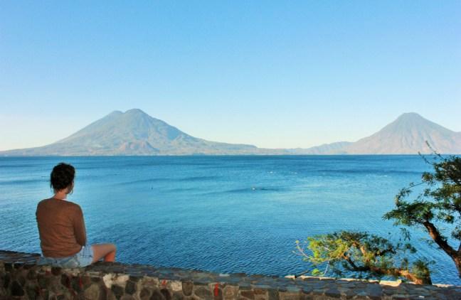 Charlie sitting at Panajachel Lake Atitlan Guatemala - Charlie on Travel 1200