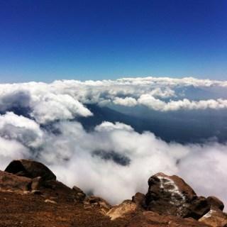 The top of Acatenango volcano