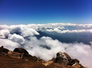 The top of Acatenango volcano