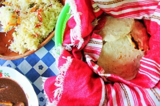 Pepian tortillas and rice at guatemalan cooking class vegetarian - charlie on travel