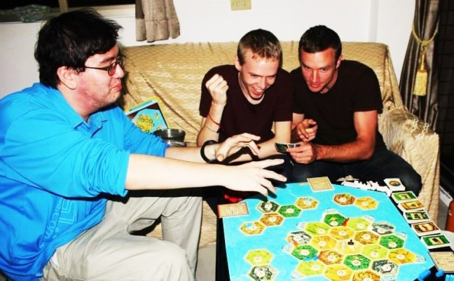 Tu Teaching in Taiwan - dominating settlers of catan - charlie on travel