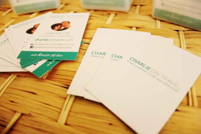Charlie on Travel travel blogger buisness cards 4