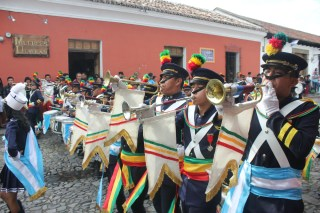 Drums and trumpets during the parades