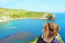 Lulworth Cove England and Charlie - Charlie on Travel
