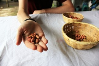 Make your own peanut butter with De La Gente in Antigua, Guatemala