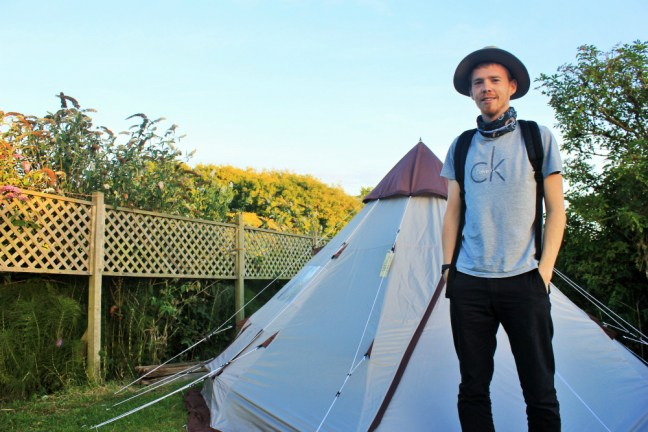 Charlie birthday - Luke and our tipi - Toms field Dancing Ledge Dorset 1000