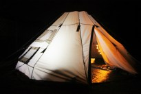 Charlie birthday - tipi in the dark - Dancing Ledge Dorset