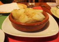 Yucca in garlic butter